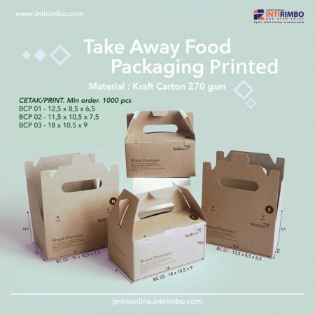 Take Away Food Packaging Printed